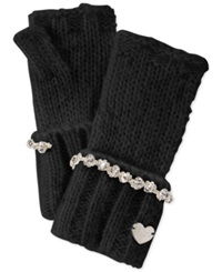 Betsey Johnson On The Rocks Fingerless Gloves Black