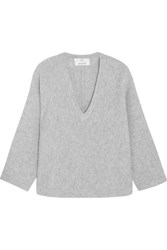 Allude Wool And Cashmere Blend Sweater Gray