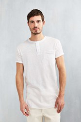 Feathers Delta Henley Shirt Ivory