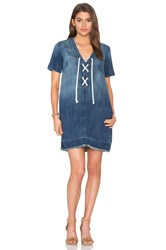 Current Elliott The All Lace Up Dress Blue