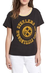 Junk Food Nfl Steelers Kick Off Tee True Black Mustard