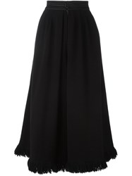 Yves Saint Laurent Vintage Wide Leg Culottes Black