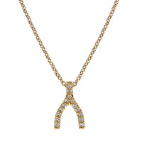 Alanna Bess Jewelry Wishbone Necklace 18K Vermeil