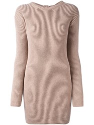 Valentino Open Back Jumper Pink And Purple
