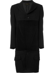 Comme Des Gara Ons Vintage Deconstructed Coat Black