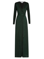Diane Von Furstenberg Evelyn Maxi Dress Dark Green