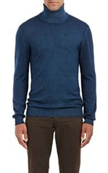 Etro Men's Melange Turtleneck Sweater Blue