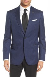 Ted Baker Men's London Jed Trim Fit Print Wool And Cotton Sport Coat