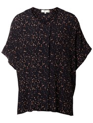 Selected Femme Mabel Printed Blouse Dark Sapphire