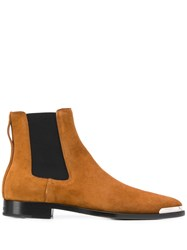 Givenchy Metal Tip Chelsea Boots Brown