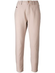 Diesel High Waisted Trousers Pink Purple