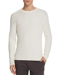 Theory Hilbet Ribbed Cotton Sweater Off White