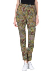 Camouflage Couture Trousers Casual Trousers Women Military Green