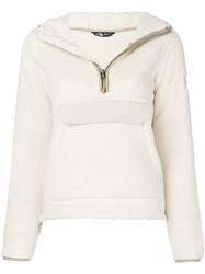 The North Face Zipped Up Sweatshirt White