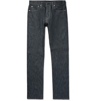 The Workers Club Slim Fit Raw Selvedge Denim Jeans Dark Denim