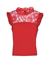 Jolie By Edward Spiers Tops Red