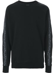 D.Gnak Barbed Wire Print Sweatshirt Black
