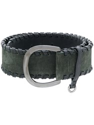 Sonia Rykiel Whipstitch Belt Leather S Green