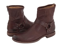 Frye Phillip Harness Dark Brown Vintage Leather Men's Pull On Boots