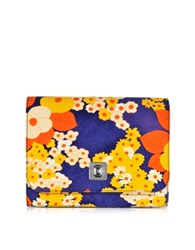 Carven Cady Orange Flower Print Pouch Multicolor