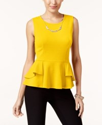 Thalia Sodi Peplum Necklace Top Created For Macy's Bumblebee