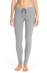 Women's Eberjey 'Cozy Time' Leggings Heather Grey