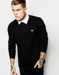 Hype Long Sleeve Polo Shirt Black
