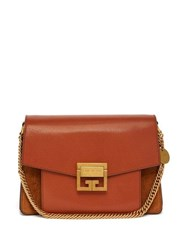 Givenchy Gv3 Mini Suede And Leather Cross Body Bag Tan