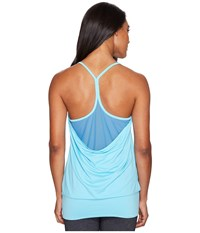 Champion Mesh Strappy Tank Top Turquoise Waters Quarry Blue Women's Sleeveless