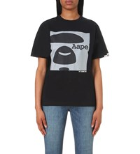 Aape By A Bathing Ape Graphic Print Cotton Jersey T Shirt Black
