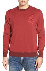 Men's Psycho Bunny 'Sw146' Stripe Crewneck Sweater Ninja Red