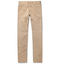 Canali Slim Fit Stretch Cotton Twill Chinos Sand