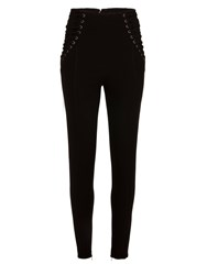 Morgan Lace Up Slim Pants Black