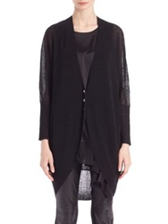 Eileen Fisher Long Cocoon Cardigan Black
