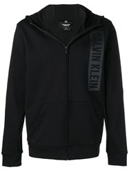 Ck Calvin Klein Logo Zip Up Jacket Black