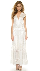 Shakuhachi Burnout Maxi Dress Ice