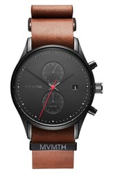 Mvmt Voyager Chronograph Leather Strap Watch 42Mm