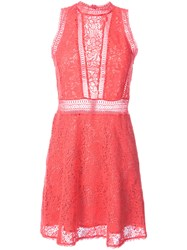 Rebecca Taylor Crochet Sleeveless Mini Dress Women Cotton Polyester 0 Pink Purple