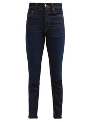 Re Done Originals Double Needle Slim Leg Jeans Dark Denim