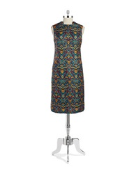 Anne Klein Tapestry Sheath Dress Mallard Green