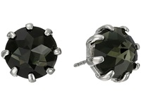 Rebecca Minkoff Rhinestone Stud Earrings Imitation Rhodium Black Diamond Earring