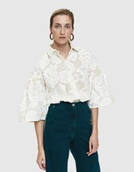 Farrow Pina Embroidered Blouse Cream