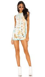 Cotton Citizen Lisbon Tank Dress In Blue. Kaleidoscope Sky