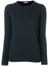 Liska Cashmere Crew Neck Sweater Blue