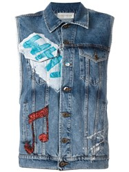 Faith Connexion Denim Vest Blue