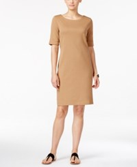 Karen Scott Boat Neck Short Sleeve Dress Only At Macy's Suede