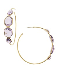 Ippolita Amethyst Large Hoop Earrings