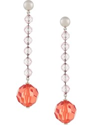 Rachel Comey Beaded Drop Earrings Yellow And Orange