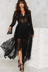 Nasty Gal Lace The Music Asymmetrical Skirt