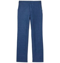 Brioni Linen Trousers Blue